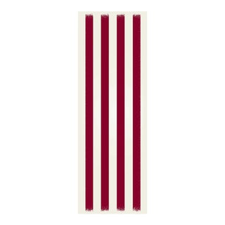 Red & White Striped Rug - 2' X 6'