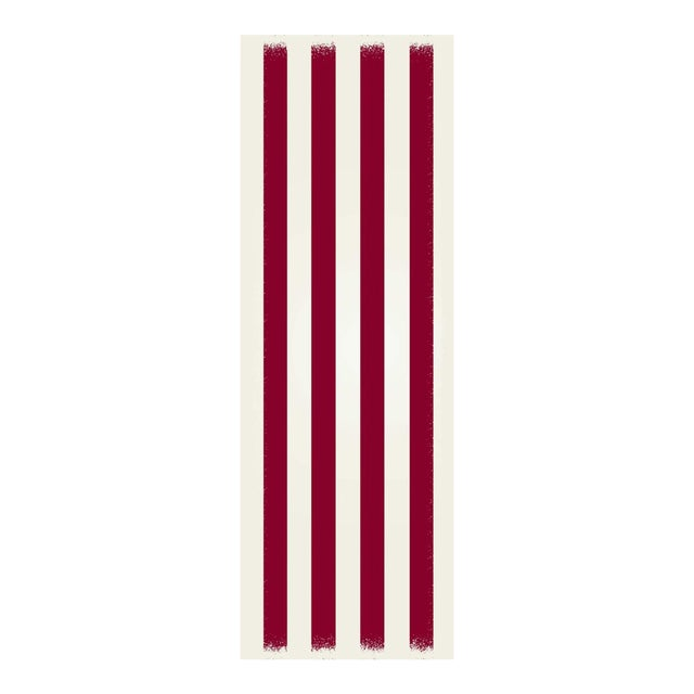 Red & White Striped Rug - 2' X 6' For Sale