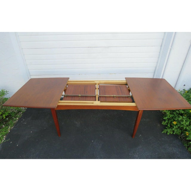 Danish Modern Danish Modern Butterfly Leaf Dining Table Made by Falster For Sale - Image 3 of 11