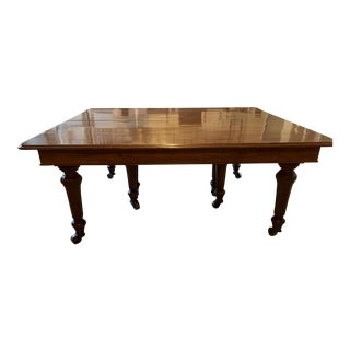 Solid Mahogany Late Regency/Early Victorian Dining Table