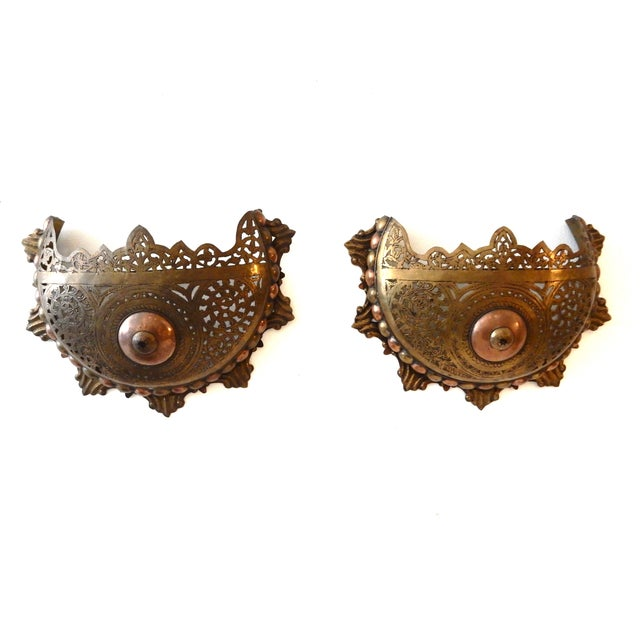Moroccan Wall Sconces - A Pair - Image 1 of 8