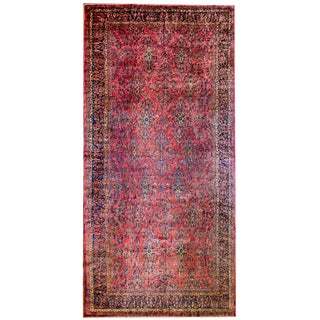 Rare Early 20th Century Sarouk Rug For Sale