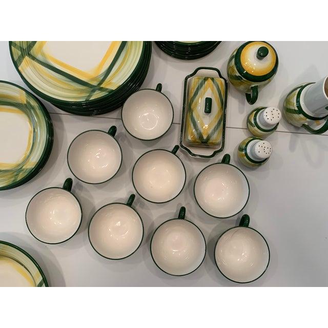 Ceramic Vintage Mid-Century Vernonware Gingham Dinnerware - 40 Piece Set For Sale - Image 7 of 13