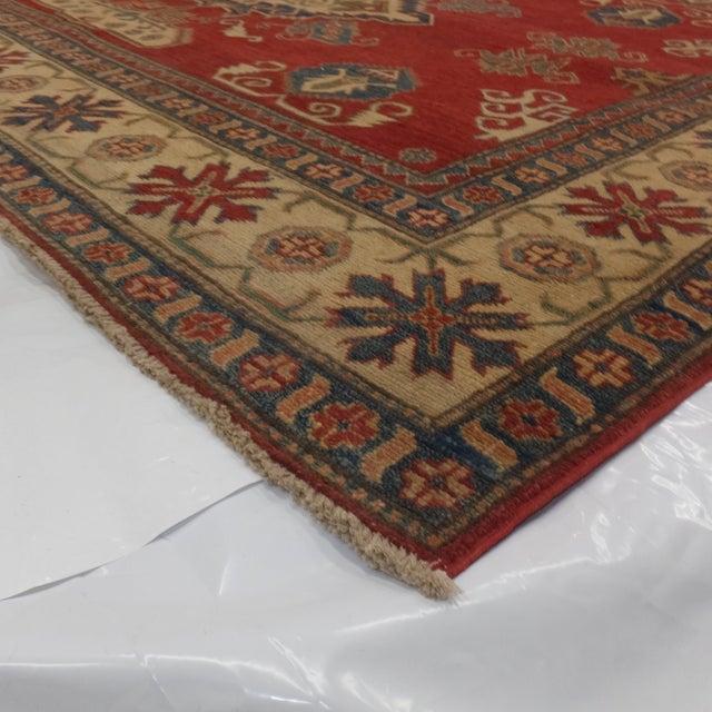 "Red Leon Banilivi Kazak Carpet - 8'6"" X 10'2"" For Sale - Image 8 of 8"