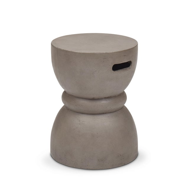 Contemporary Phillip Stool, Dark Grey For Sale - Image 3 of 8