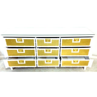 20th Century Campaign Style Lacquered Chest of Drawers Preview