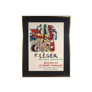 """Modern Fernand Léger 1954 Lithograph Exhibition Poster """"F. Léger Oeuvres Récentes"""" For Sale"""