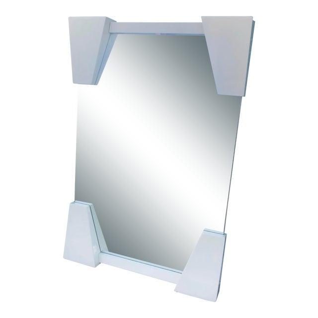 Roche Bobois Lacquered OpArt Mirror For Sale