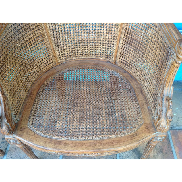 Pair of Louis XVI Style Armchairs For Sale - Image 11 of 13