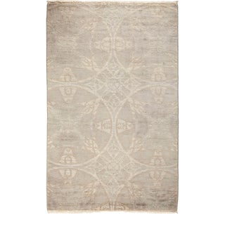 """One-of-a-Kind Contemporary Vibrance Hand-Knotted Area Rug 3' 1"""" x 4' 10"""" For Sale"""