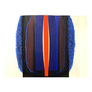 1968 Abstract Silkscreen Dennis Hawkins Signed For Sale