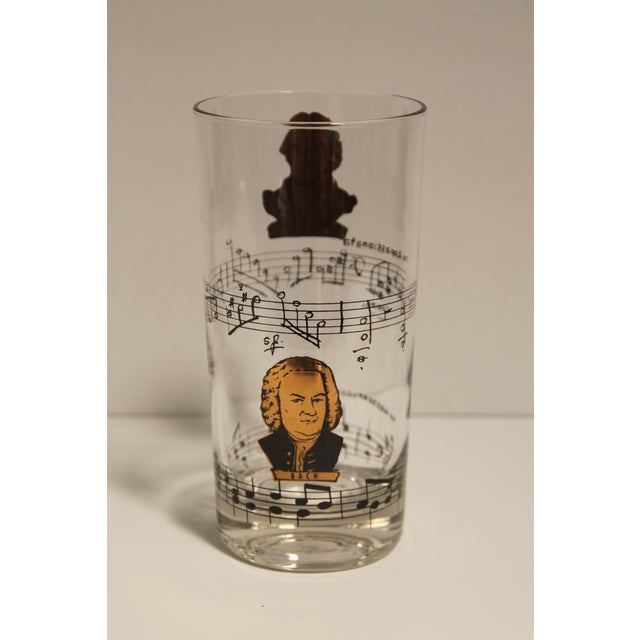 Baroque Classical Composers Glasses - Set of 8 For Sale - Image 3 of 5