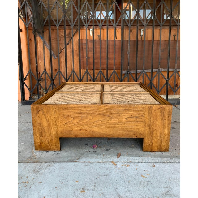 1960s Mid Century Modern Drexel Heritage Wood Briar Coffee Table For Sale - Image 10 of 13