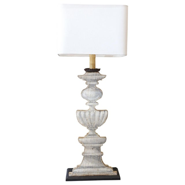 Trompe l'Oeil Candlestand Lamp For Sale In Houston - Image 6 of 8