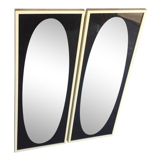 Mid 20th Century Mid-Century Modern Smoked Wall Mirrors - A Pair For Sale