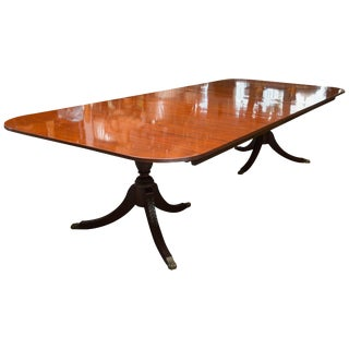 19th Century English George III Double Pedestal Dining Table For Sale