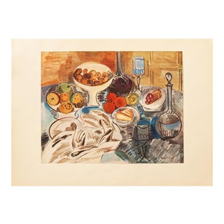 """1940s Raoul Dufy """"Still Life"""", First Edition Period Swiss Lithograph For Sale"""