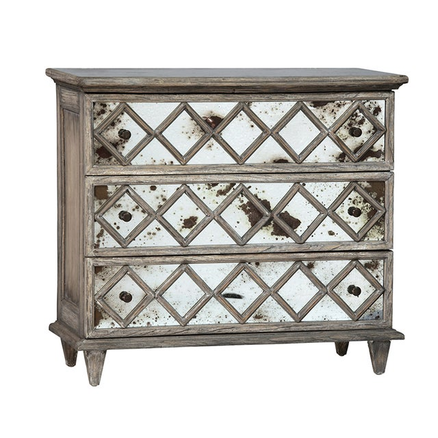 Antiqued Mirror Dresser For Sale
