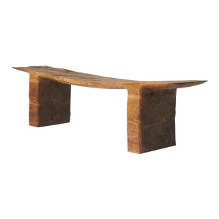 Kaspar Hamacher, Walnut Bench For Sale