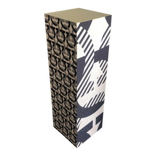 Salvatore Ferragamo Brass and Fabric Upholstered Display Pedestal For Sale