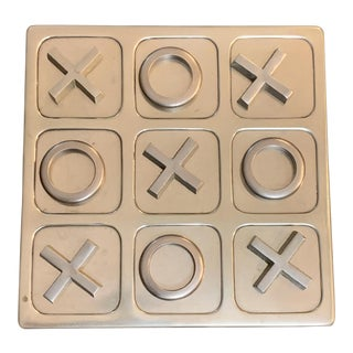 Mid Century Brass Tic -Tac -Toe Game Board For Sale