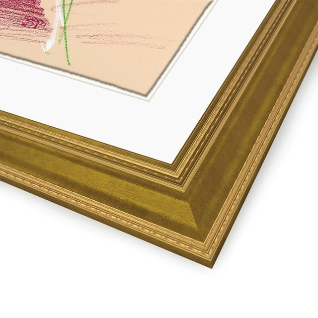 Brown Figures, Set of 4 by David Orrin Smith in Gold Frame, XS Art Print For Sale - Image 8 of 11