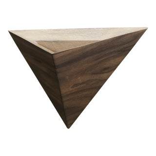 Solid Walnut Wall Mount Geometric Planter Box For Sale
