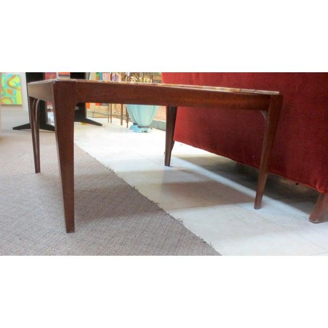 Ed Wormley Dunbar Travertine Coffee Table - Image 6 of 9