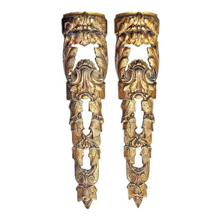 Late 19th Century Gold-Plated Bronze French Mounts - a Pair For Sale