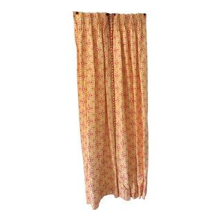 Custom Made Geometric Curtain Draperies - a Pair For Sale