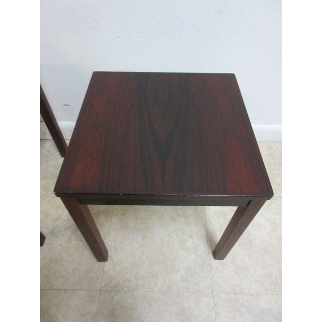 Vintage Danish Modern Rosewood Nesting Tables - Set of 3 For Sale - Image 5 of 9