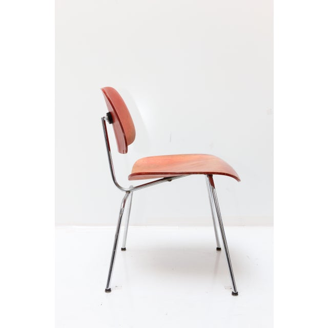 Herman Miller DCM Chair Red Aniline - Image 3 of 11