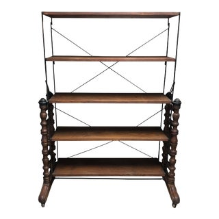 Antique Convertible Bakers Rack For Sale