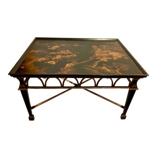 Large Scale Carved Chinoiserie Coffee Table For Sale