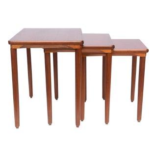 Danish Teak Nesting Tables by Ew Bach, 1960s, Denmark For Sale