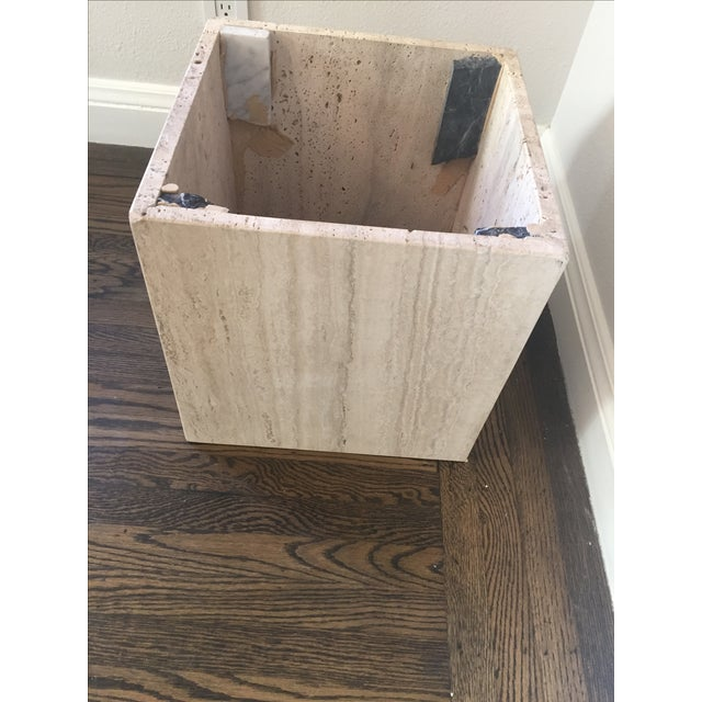 Italian Travertine Marble Coffee Table For Sale - Image 7 of 9