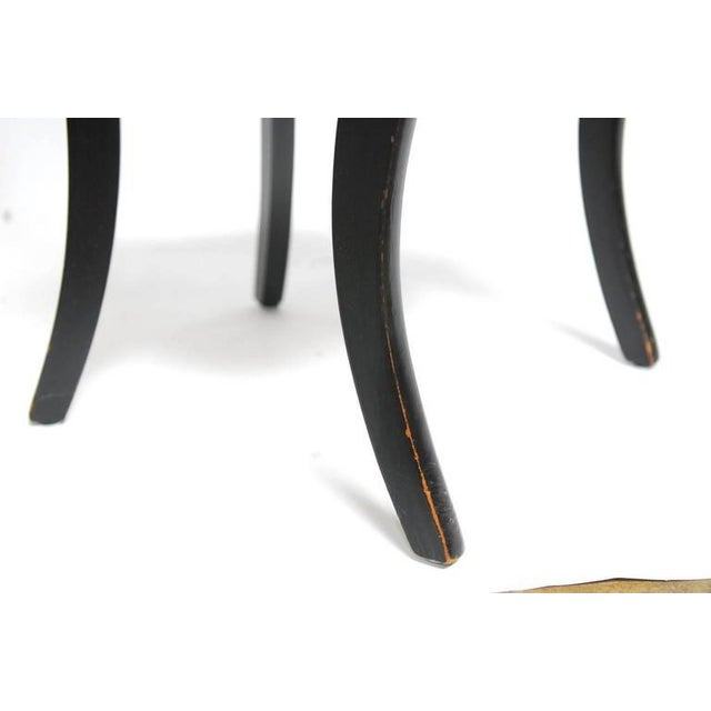 Set of Four Mid-Century Black Lacquer Dining Chairs - Image 10 of 10