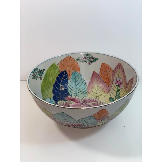 This is a vintage decorative bowl or planter with a beautiful tobacco leaf pattern. This would be a nice bowl to add to...