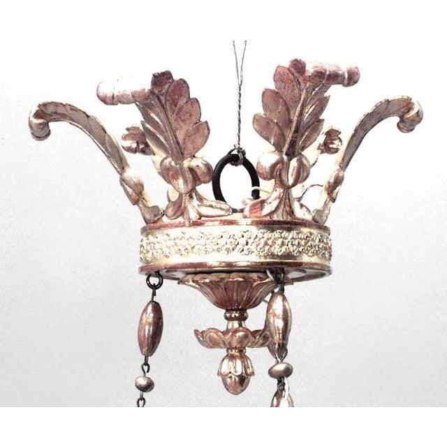 Mid 19th Century Austrian Biedermeier Gilt Carved Chandelier For Sale - Image 5 of 7