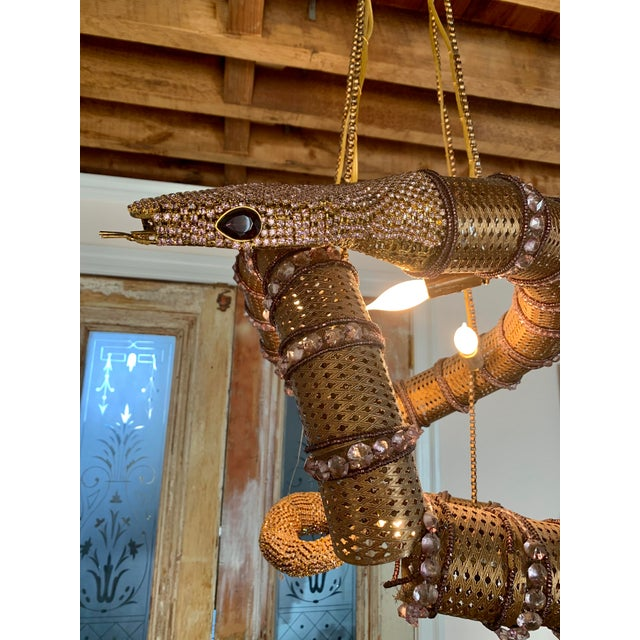 Mid 20th Century Snake Serpent Chandelier For Sale - Image 5 of 12