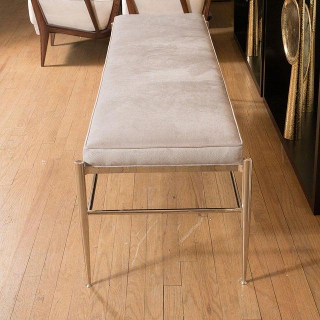 Mid-Century Modern Italian Upholstered Rectangular Bench For Sale - Image 3 of 5