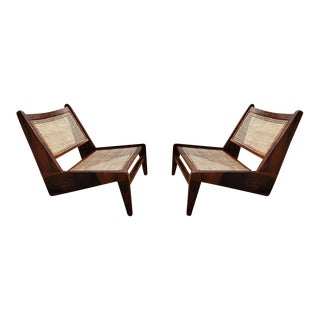 Kangourou lounge chairs in Sissoo Chandigarh, in the style of Jeanneret