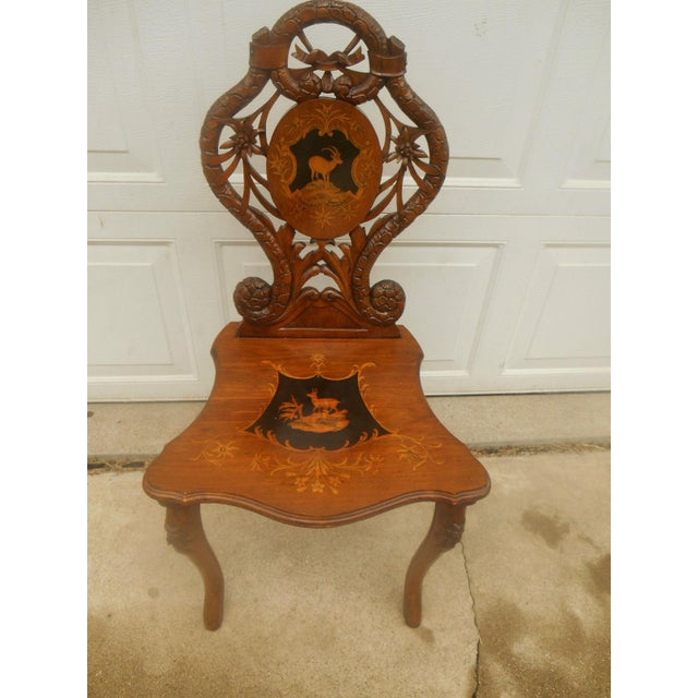 Antique Hand Carved Accent Chair - Image 2 of 8