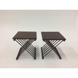 1960s Danish Modern Teak Folding Tray Top Side Tables - a Pair Preview