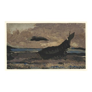 """1968 """"La Barque échouée"""" Maeght Georges Braque Lithograph For Sale"""