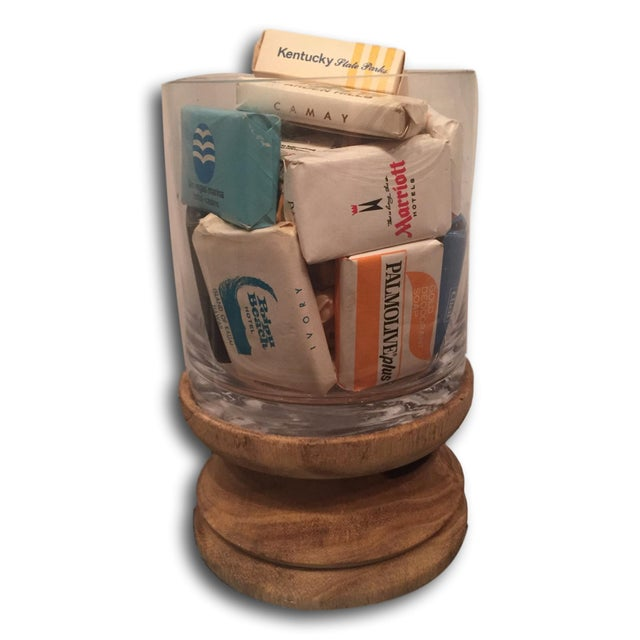 Glass Display of 20 Vintage Hotel Soaps - Image 5 of 5