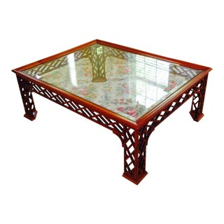 1970s Chinoiserie Coffee Table For Sale