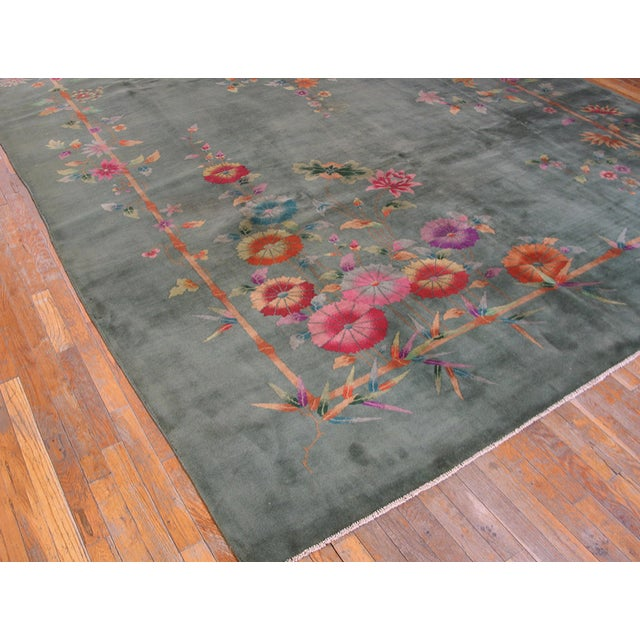 "Art Deco Antique Chinese Art Deco Rug 8'10"" X 11'8"" For Sale - Image 3 of 12"