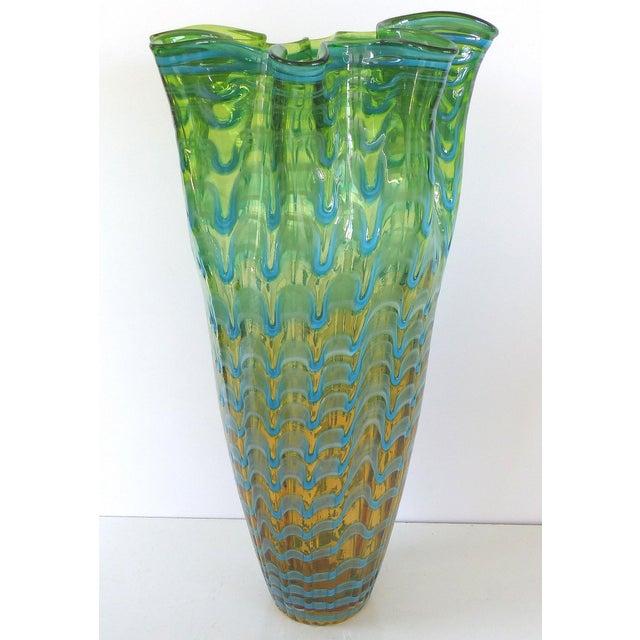 Venini Handkerchief Art Glass Vase Chairish