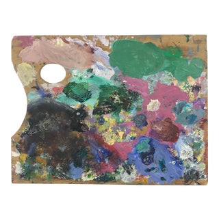 French Wood Painter's Palette For Sale